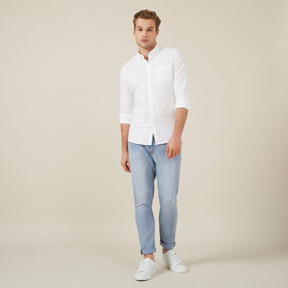 OXFORD L/S CUSTOM FIT SHIRT  WHITE  hi-res