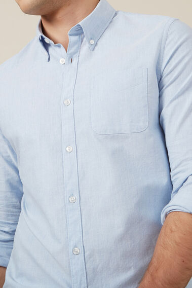 PALE BLUE L/S CUSTOM FIT SHIRT  PALE BLUE MELANGE  hi-res
