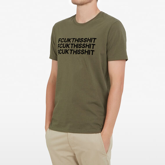 FCUK THIS SHIT T-SHIRT  OLIVE  hi-res