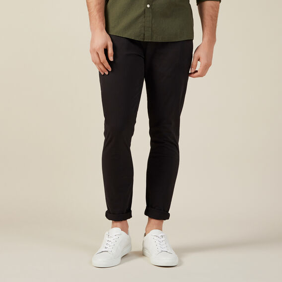 SLIM FIT CHINO PANT  BLACK  hi-res