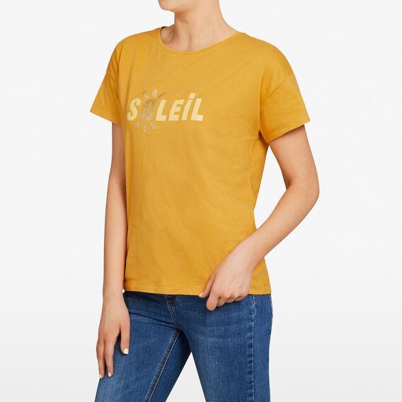 SOLEIL TEE  SAND YELLOW  hi-res