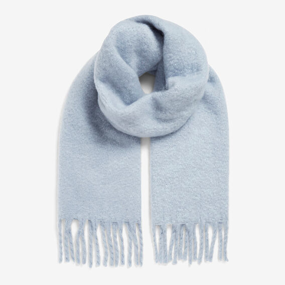 SOFT BLUE CHUNKY SCARF  SOFT BLUE  hi-res
