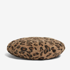 ANIMAL FAUX FUR BERET  CAMEL MULTI  hi-res