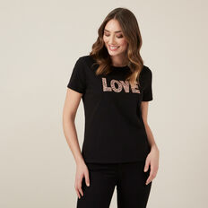 ANIMAL LOVE TEE  BLACK  hi-res