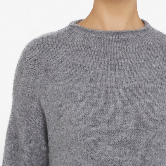MOCK NECK KNIT  SOFT GREY  hi-res