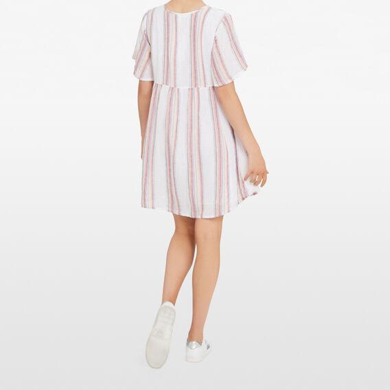 BABYDOLL STRIPE DRESS  MULTI  hi-res