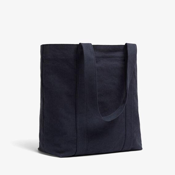 WASHED COTTON TOTE BAG  WASHED BLUE  hi-res