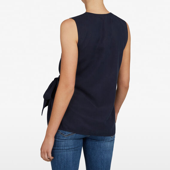 WRAP FRONT SLEEVELESS SHIRT  NOCTURNAL  hi-res