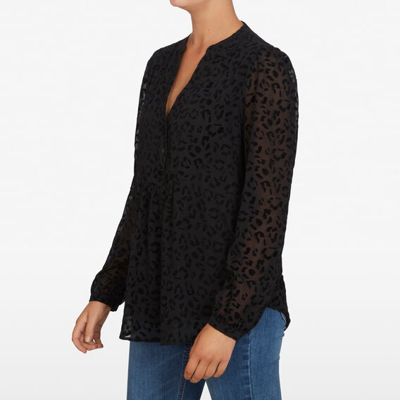 ANIMAL VELVET SHIRT  BLACK  hi-res