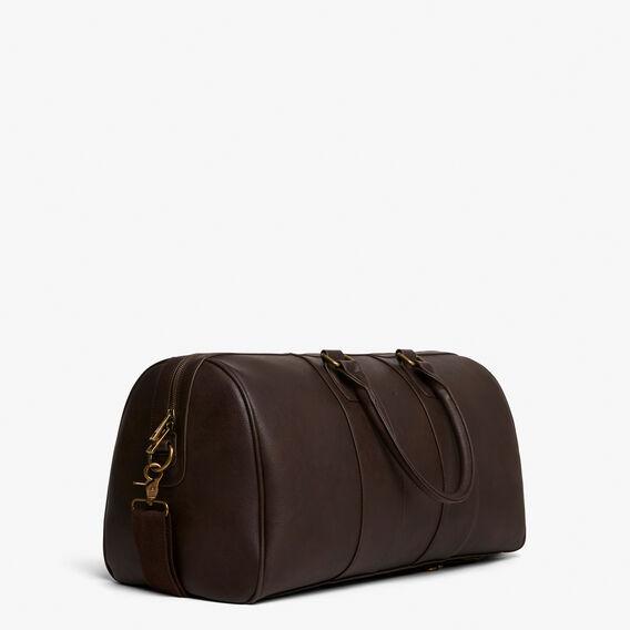 LEATHER LOOK WEEKENDER BAG  CHOCOLATE  hi-res