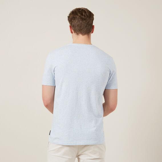 CLASSIC V-NECK T-SHIRT  PALE BLUE MARL  hi-res