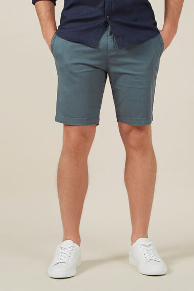 SLIM-FIT STRETCH CHINO SHORT  DARK SAGE  hi-res