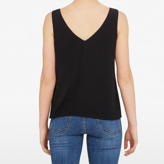 V NECK CAMI  BLACK  hi-res