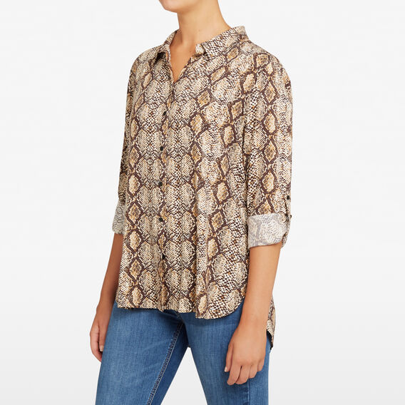 SNAKE PRINT SHIRT  MULTI  hi-res