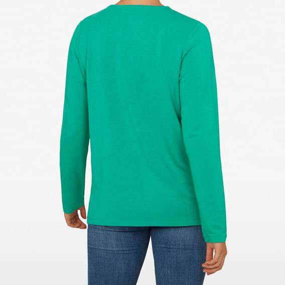 CREW NECK SLOUCHY TEE  GREENS  hi-res