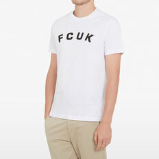 FCUK ARCHED T-SHIRT  WHITE  hi-res