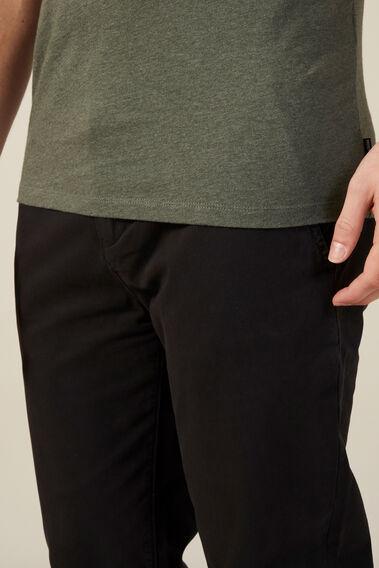 REGULAR FIT STRETCH CHINO PANT  BLACK  hi-res