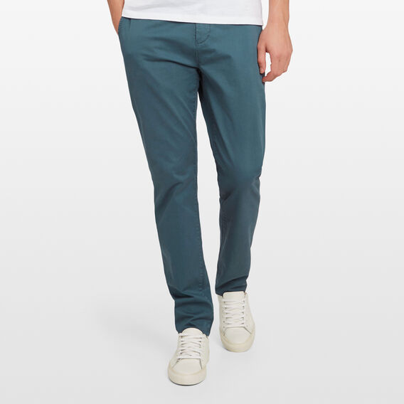 REGULAR FIT STRETCH CHINO PANT  PETROL  hi-res