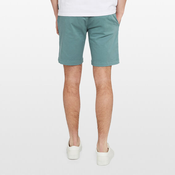 SLIM-FIT STRETCH CHINO SHORT  TEAL  hi-res