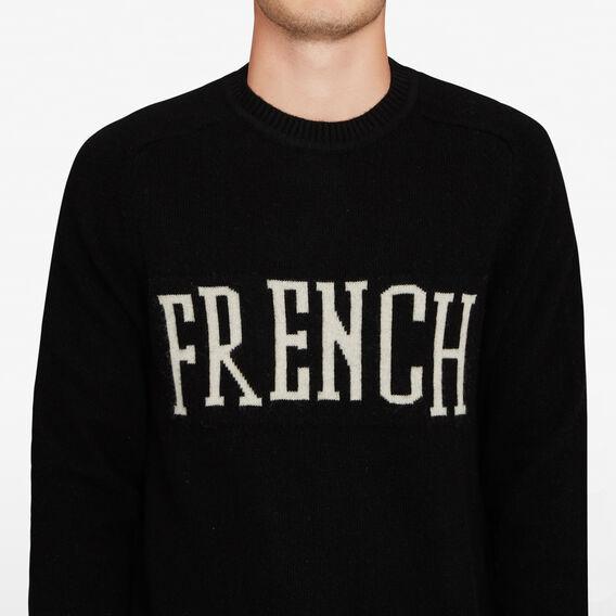 FRENCH INTARSIA KNIT  BLACK  hi-res