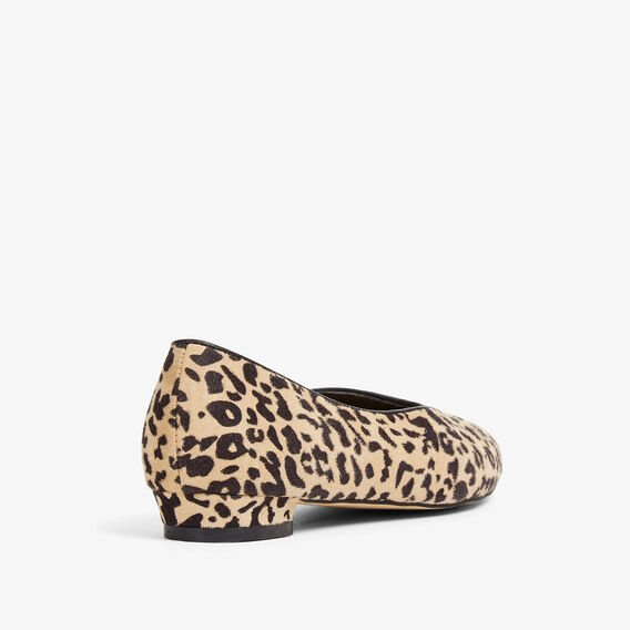 ANIMAL POINTY BALLET FLAT  BLACK/MULTI  hi-res