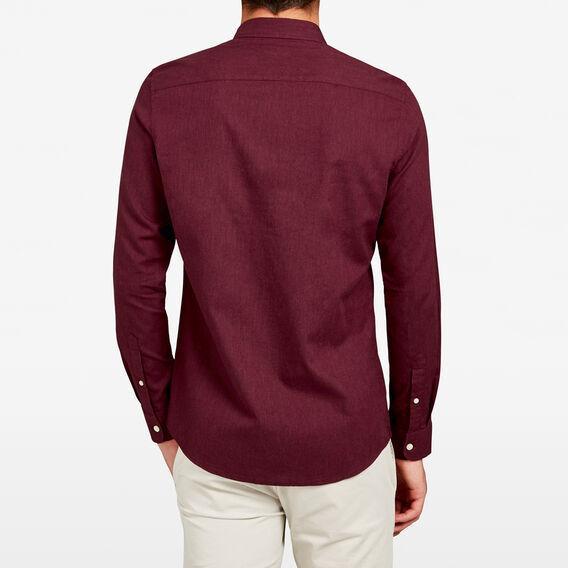 BURGUNDY MELANGE CUSTOM FIT SHIRT  BURGUNDY  hi-res