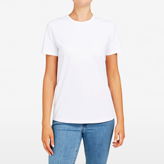 CREW NECK TEE  WHITE  hi-res