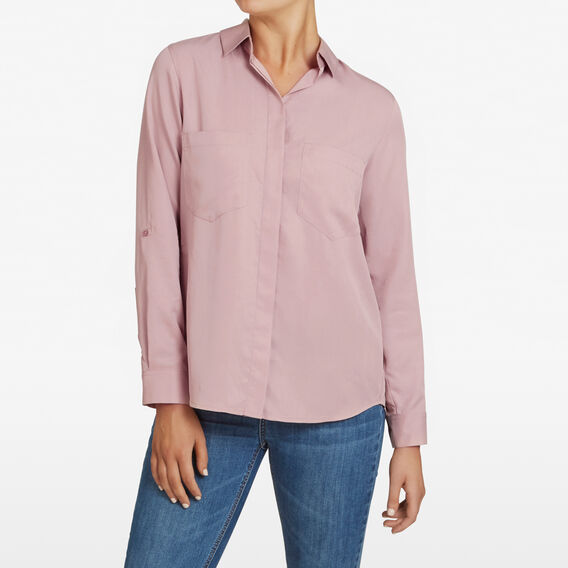 ESSENTIAL BUTTON THROUGH SHIRT  DUSTY PINK  hi-res