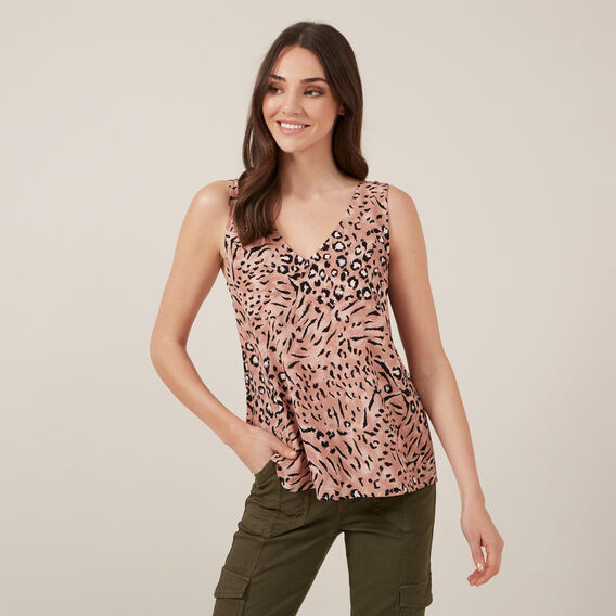 ANIMAL BLUSH CAMI  BLUSH  hi-res