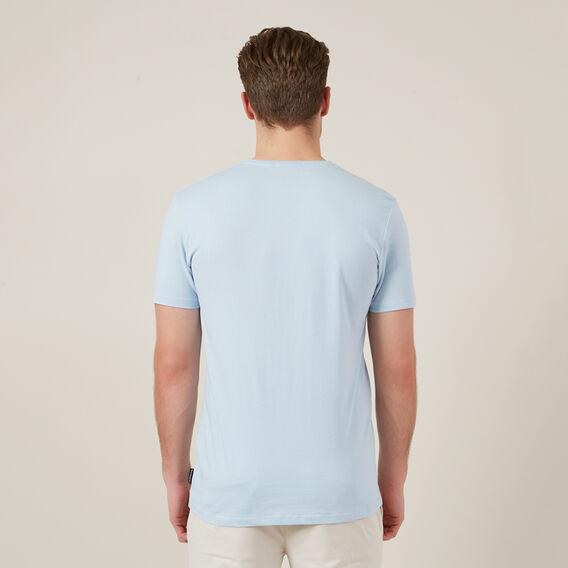 CLASSIC V NECK T-SHIRT  SKY BLUE  hi-res