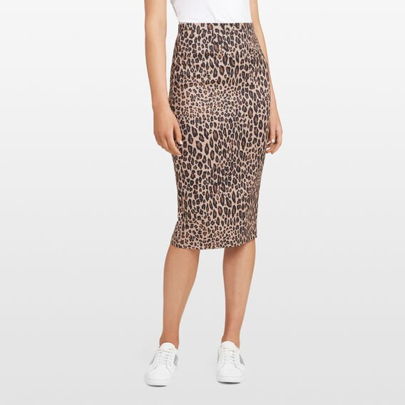 ANIMAL PRINT PENCIL SKIRT  MULTI  hi-res