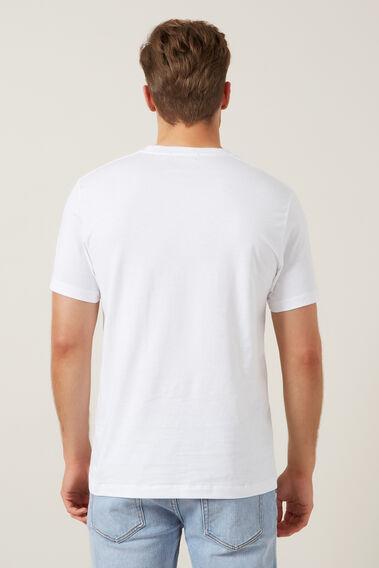 FCUK ARCHED T-SHIRT  WHITE  hi-res