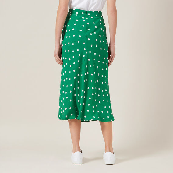 SPOT MIDI SKIRT  SPRING GREEN  hi-res