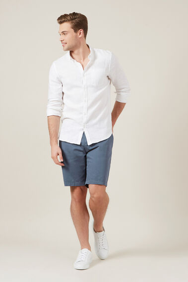 RELAXED FIT STRETCH CHINO SHORT  SLATE BLUE  hi-res