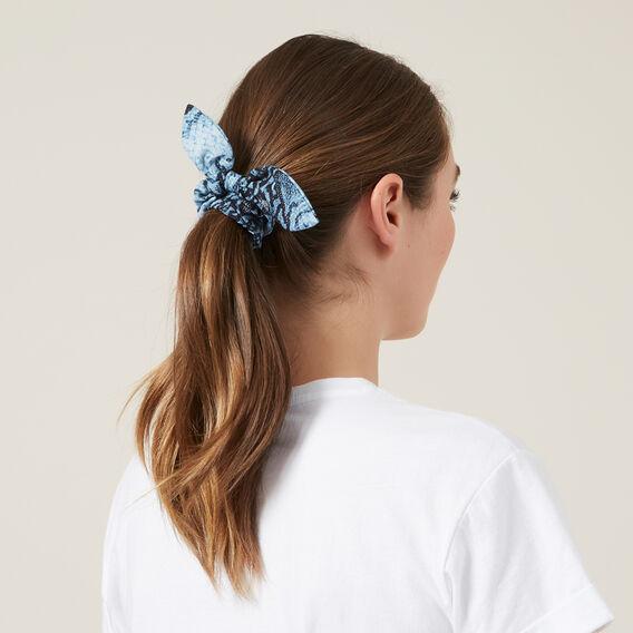 BLUE SNAKE HAIR SCRUNCHIE  BLUE SNAKE  hi-res