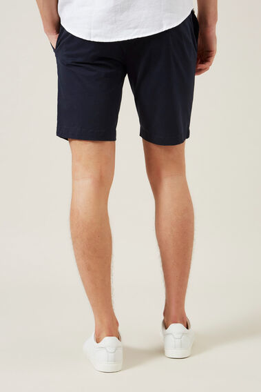 SLIM FIT STRETCH CHINO SHORT  MIDNIGHT  hi-res