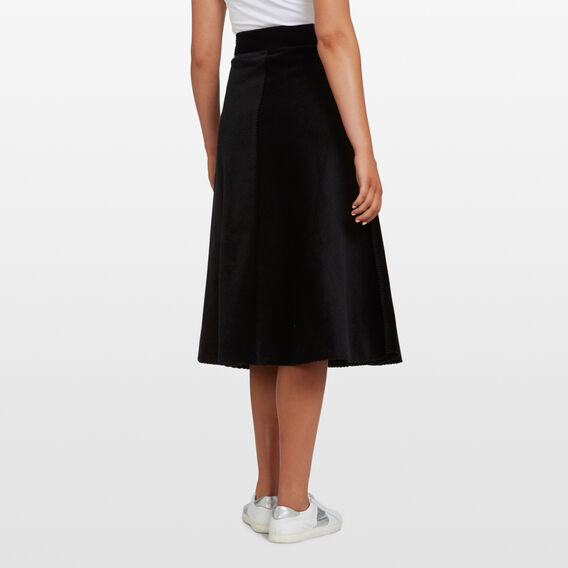 CORD MIDI  SKIRT  BLACK  hi-res