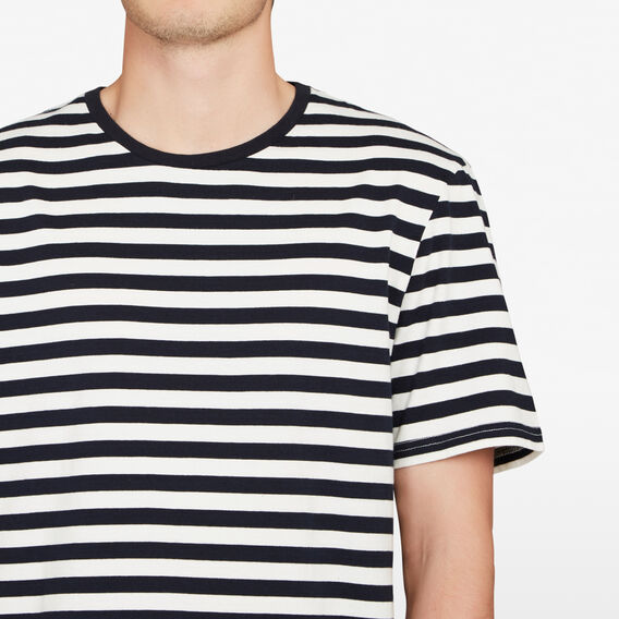 STRIPE RELAXED FIT T-SHIRT  WHITE/MARINE BLUE  hi-res