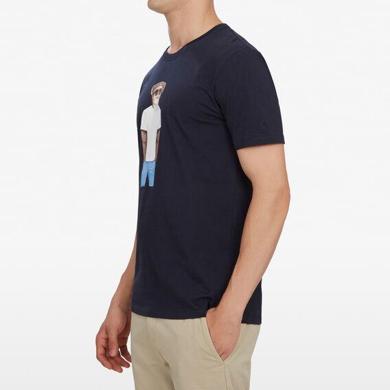 HIPSTER MONKEY T-SHIRT  MARINE BLUE  hi-res