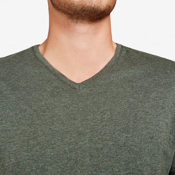CLASSIC V NECK T-SHIRT  LIGHT OLIVE MARLE  hi-res