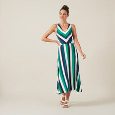 STRIPE JERSEY DRESS  MULTI  hi-res