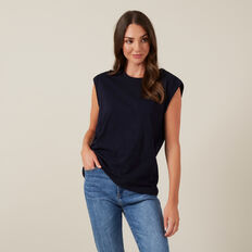 SLEEVELESS TEE  NAVY  hi-res
