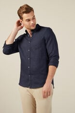 LINEN SHIRT  OXFORD BLUE  hi-res