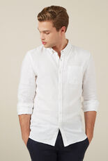LINEN SHIRT  WHITE  hi-res