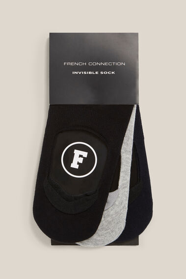 NO SHOW 3 PACK SOCKS  BLACK/GREY/NAVY  hi-res