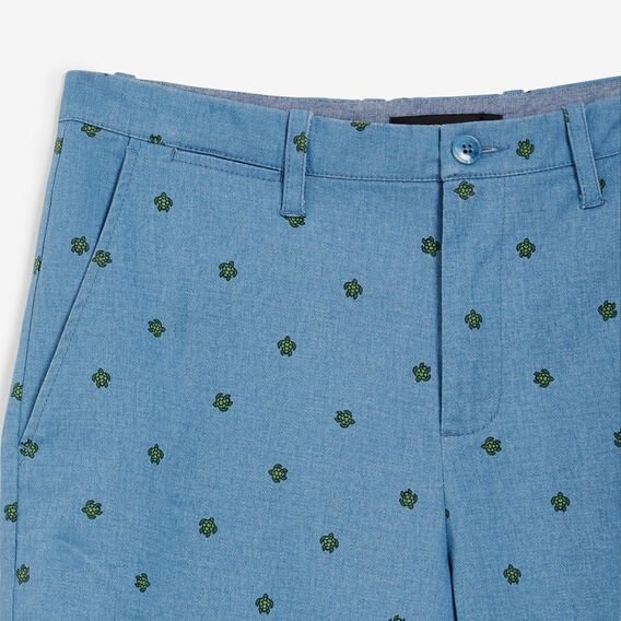TURTLE PRINTED SHORT  OCEAN BLUE  hi-res