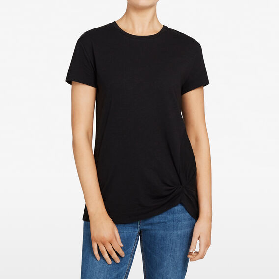 KNOT FRONT TEE  BLACK  hi-res