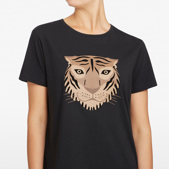 TIGER FACE TEE  BLACK/MULTI  hi-res