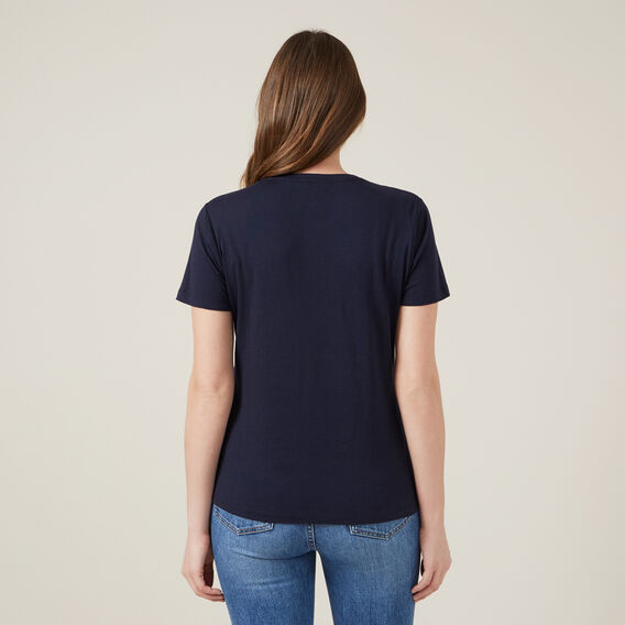 LOVE LOGO TEE  NAVY  hi-res