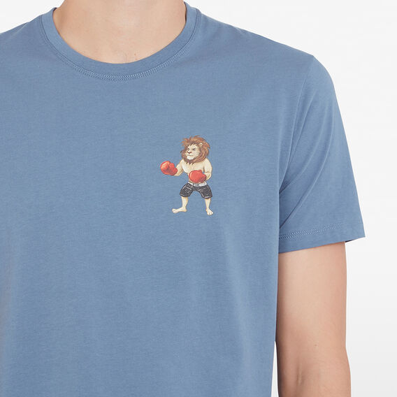 BOXING LION T-SHIRT  BLUE SHADOW  hi-res